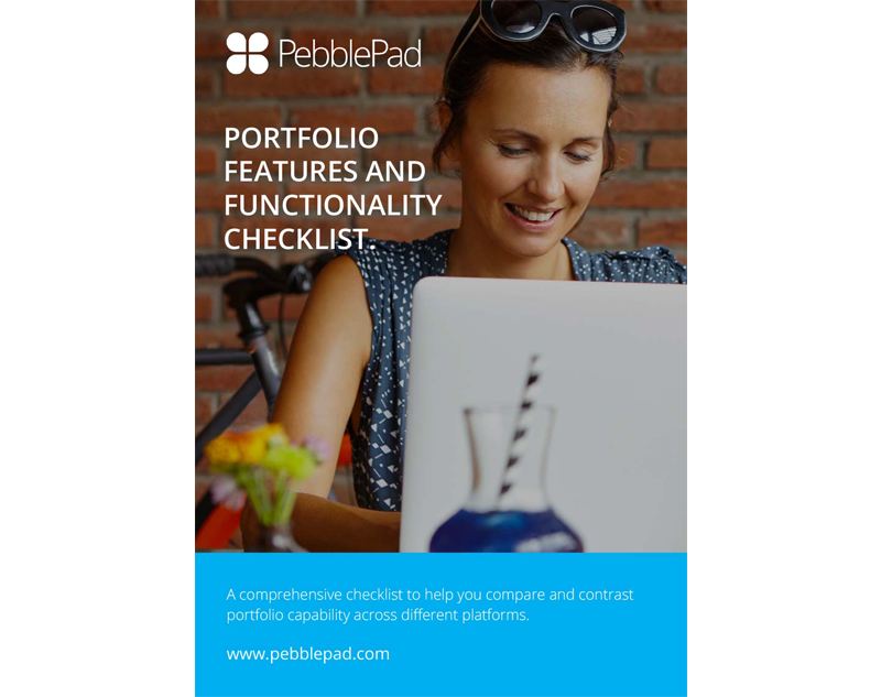 PebblePad portfolio comparison checklist download