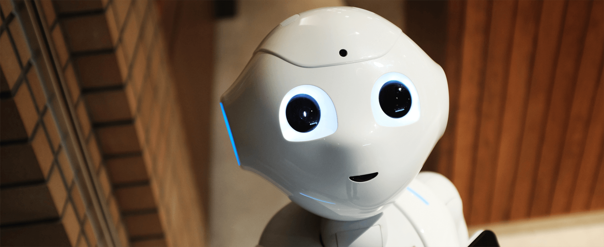 An image of a robot with human like features