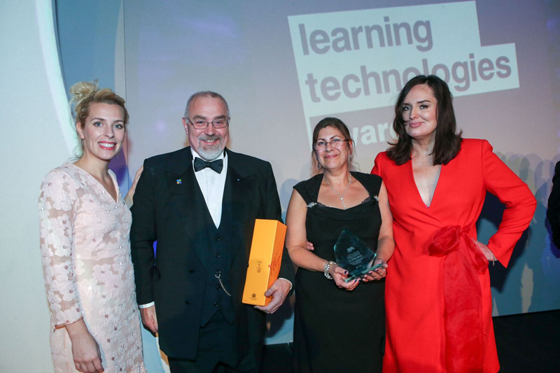 Image shows the team with their LT17 award