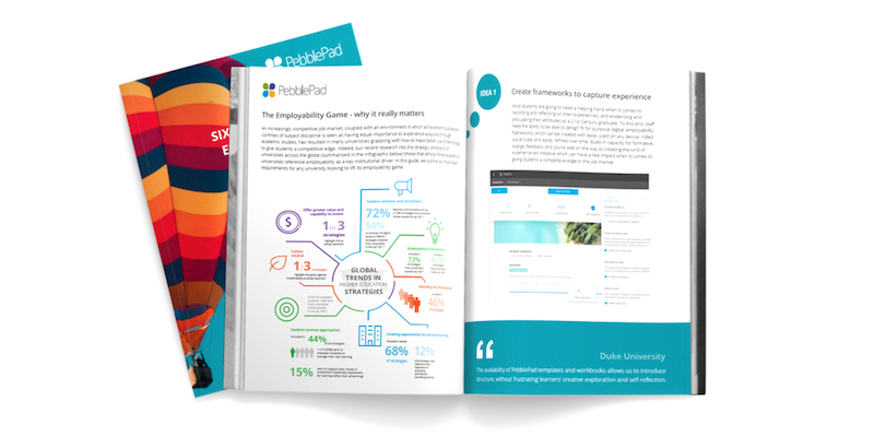 Image shows a snapshot of the PebblePad Employability Guide