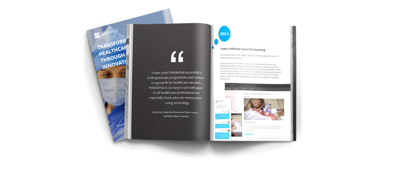 Image shows a snap of the PebblePad Healthcare Education Publication