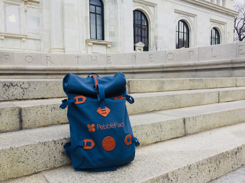 Image shows a PebblePad Millican Rucksack in Washington DC AACU 2020