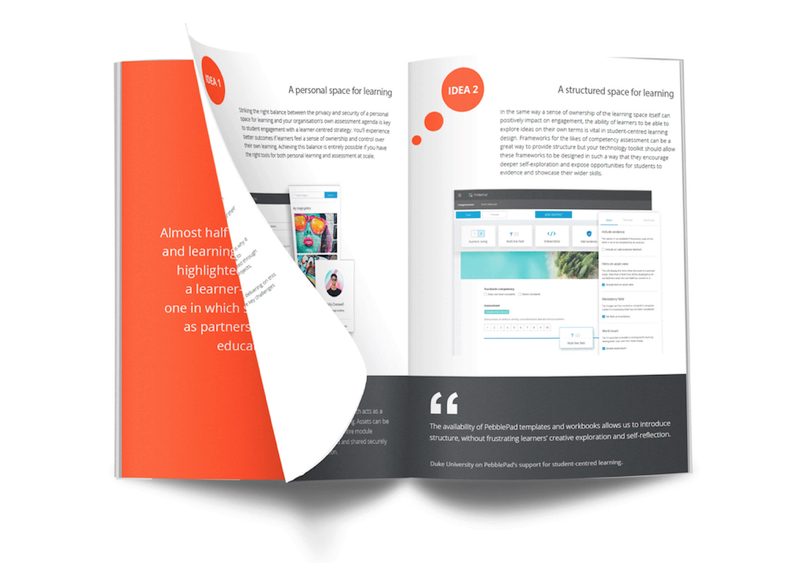 Image shows a snapshot of the PebblePad Student-centred Learning  Guide