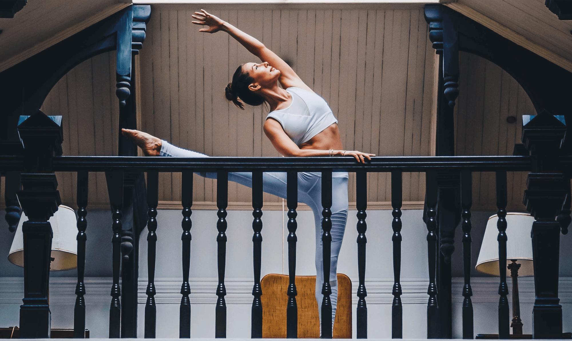 Image shows flexible ballerina
